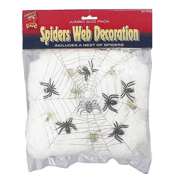 Tela de araña blanca. Decoración Halloween