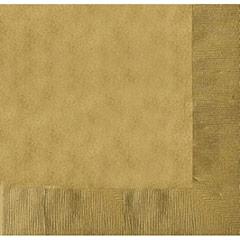 Servilletas lisas doradas 40 x 40 cm, Pack 20 u.