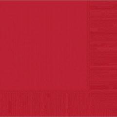 Servilletas lisas rojas 40 x 40 cm, Pack 20 u.
