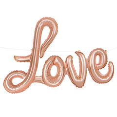 Globo texto love rosa bronce 91 x 35 cm