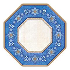 Plato estrella 6 puntas 18 cm