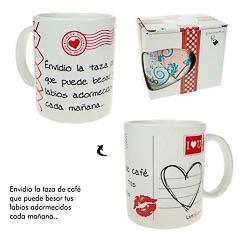 Taza Envidio la taza de café que puede besar tus labios adormecidos cada mañana