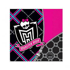 Servilletas Monster High 33 x 33 cm, Pack 20 u.