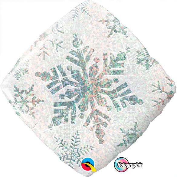 Globo Estrella holográfica copo de nieve