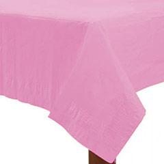 Mantel liso rosa 274 x 137 cm impermeable, Pack 1 u.