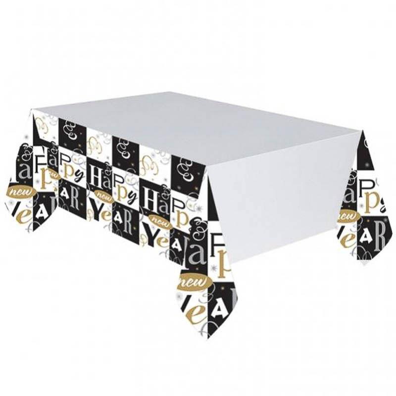 Mantel Nochevieja 259 x 137 cm papel, Pack 1 u.