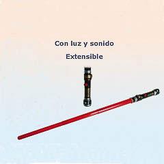 Espada Sable Láser roja con luz y sonido