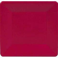 Platos Rojos Navidad 18,30 cm, Pack 8 u.