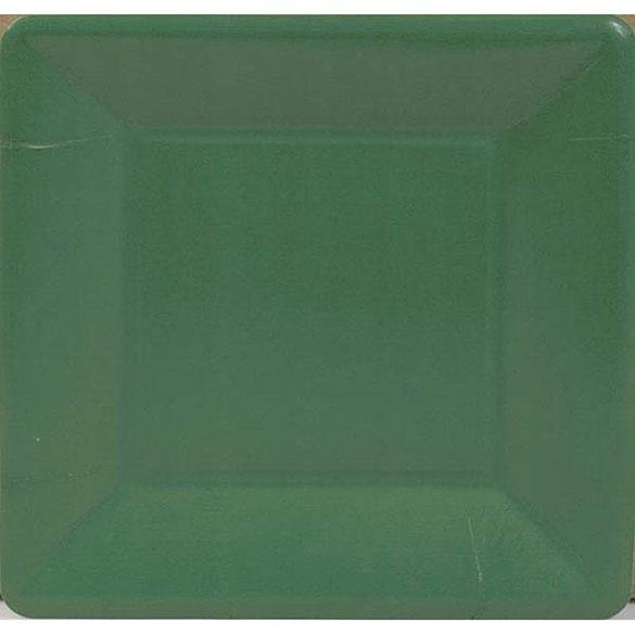Platos Verdes Navidad 18,30 cm, Pack 8 u.