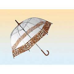 Paraguas transparente leopardo