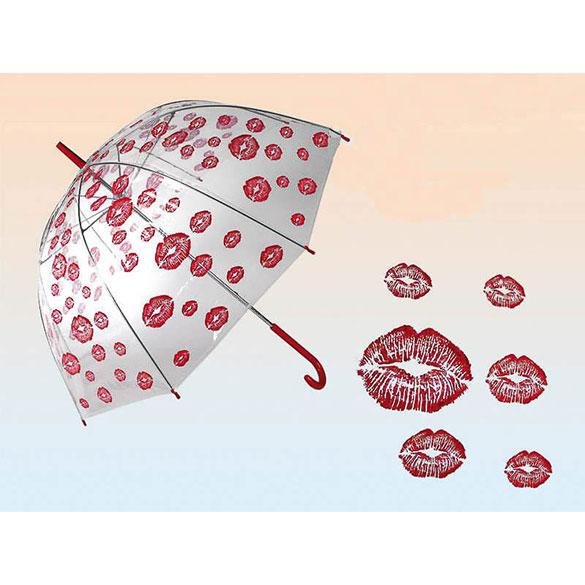 Paraguas transparente besos