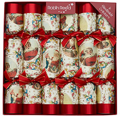 Victorian Santa. Christmas Crackers. 30 cm, Pack 6 u.