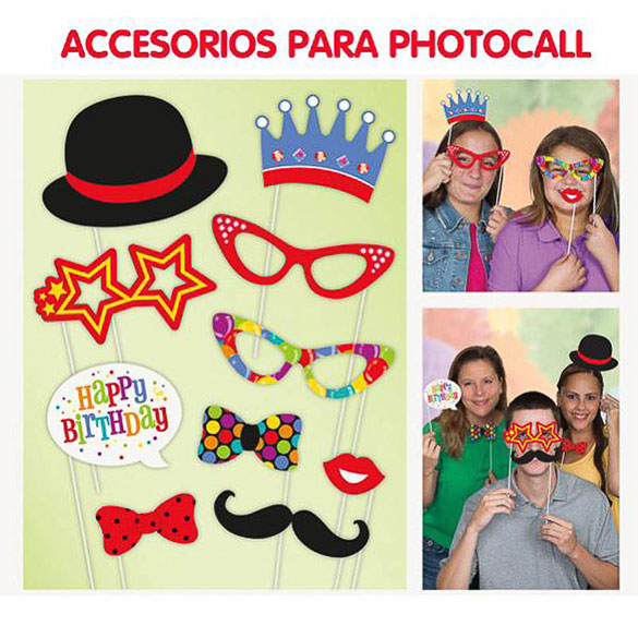 Cumpleaños, Accesorios Photocall