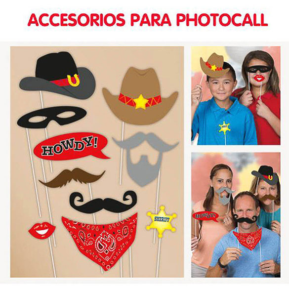 Vaqueros, Accesorios Photocall