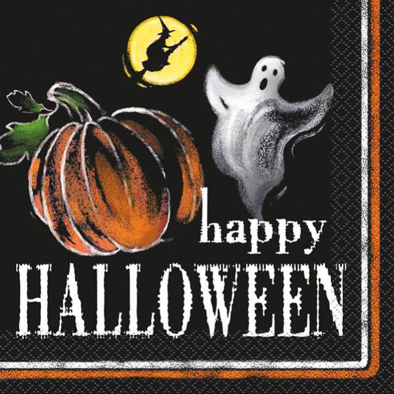 Servilletas Happy Halloween 25 x 25 cm, Pack 20 u.