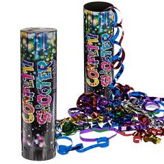 Lanzador de confeti y serpentinas 20 cm