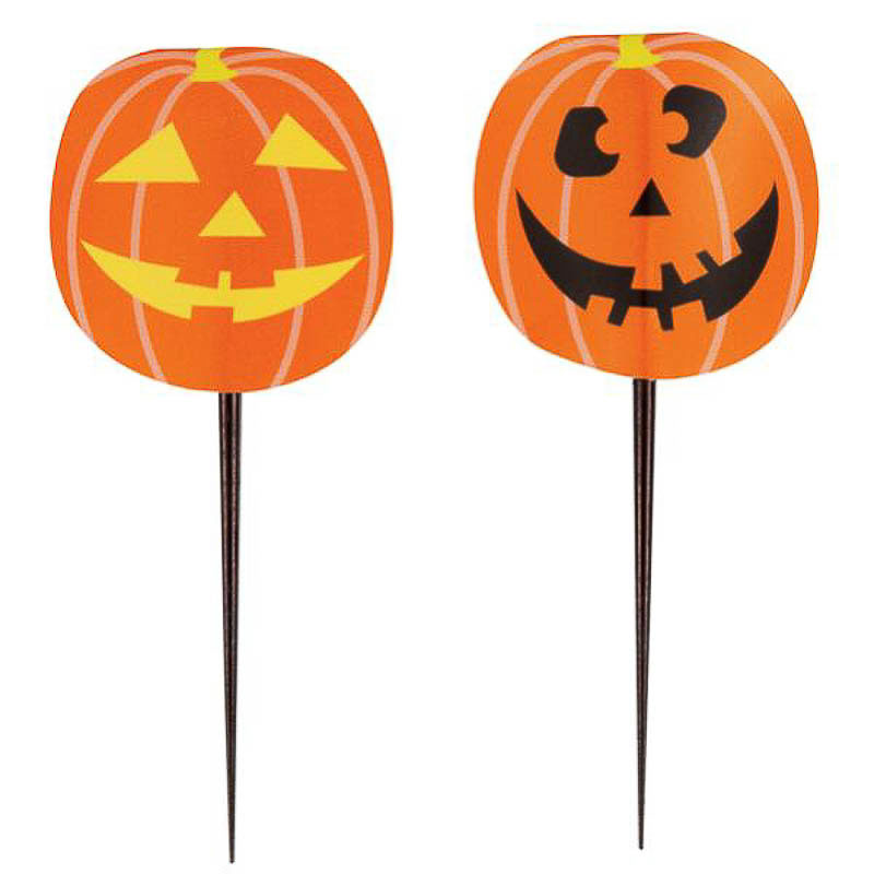 Pinchos decorativos Halloween, Pack 8 u.