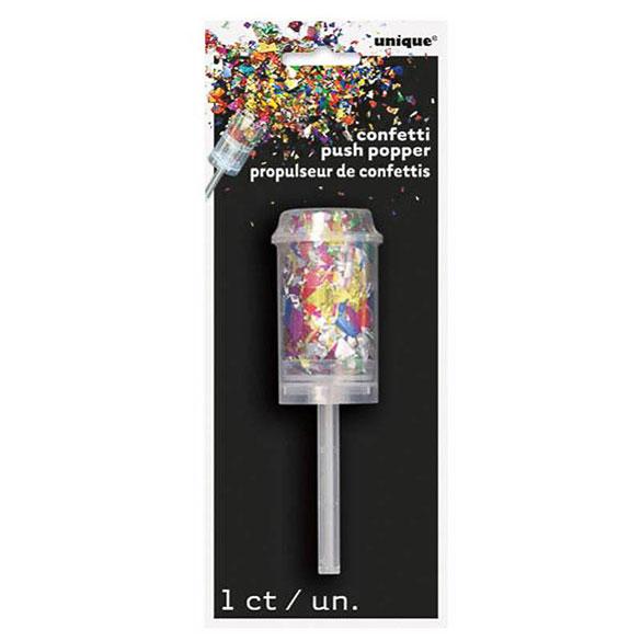 Lanzador de confeti metálico multicolor 13 cm