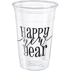 Vasos Happy New Year 473 ml, Pack 8 u.