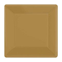 Platos dorados 18 x 18 cm, Pack 20 u.