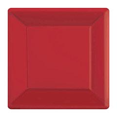Platos rojos 18 x 18 cm, Pack 20 u.