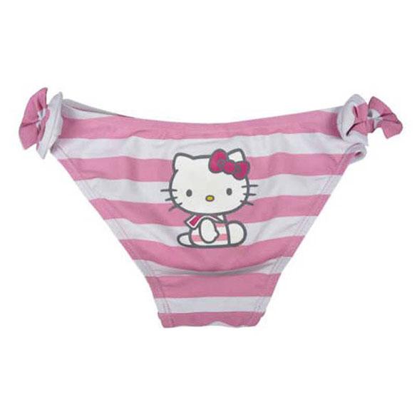 Braguita bañador Hello Kitty rayas rosa y blancas T/6
