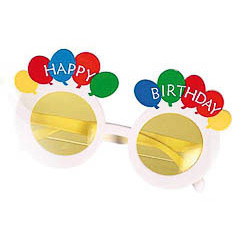 Gafas con forma de globos de cumpleaños