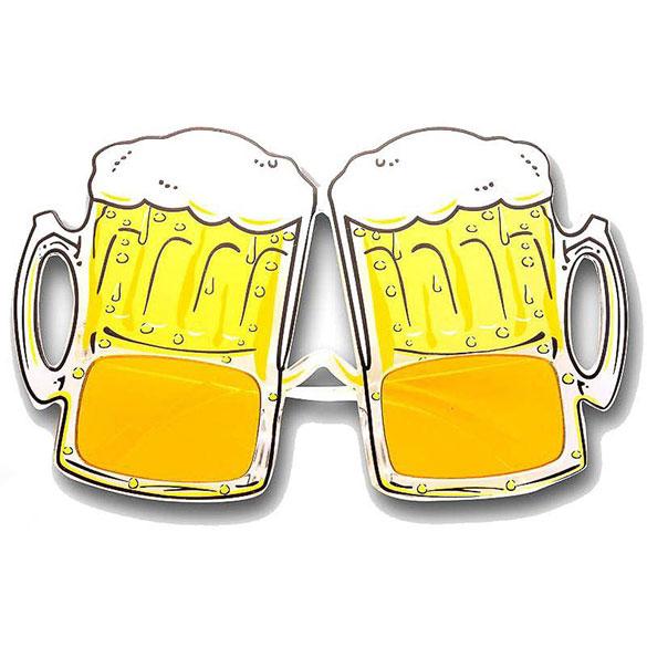 Gafas con forma de jarras de cerveza
