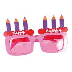 Gafas con forma de tarta de cumpleaños
