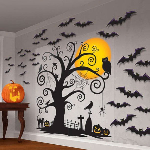 Fondo de Pared Halloween. Decoración Halloween
