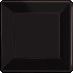 Platos negros 25 x 25 cm, Pack 20 u.