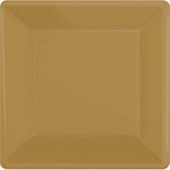 Platos dorados 25 x 25 cm, Pack 20 u.