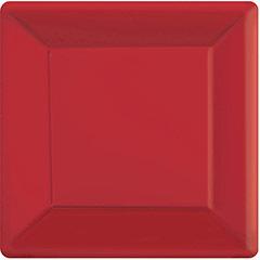 Platos rojos 25 x 25 cm, Pack 20 u.