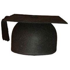 Birrete graduado de fieltro talla única