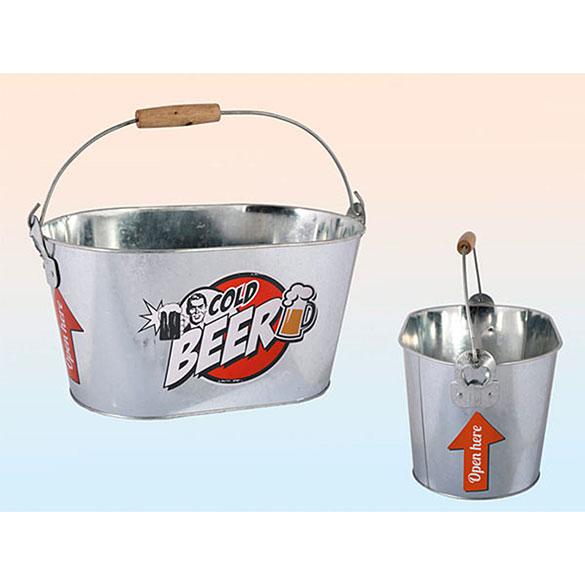 Cubo metálico para enfriar bebidas