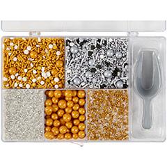 Caja Sprinkles metálicos surtidos Wilton