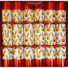 Racing Reindeer. Christmas Crackers. 32,50 cm, Pack 6 u.