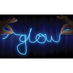 Set para crear texto con luz Neon azul