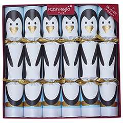 Racing Penguin. Christmas Crackers. 32,50 cm, Pack 6 u.