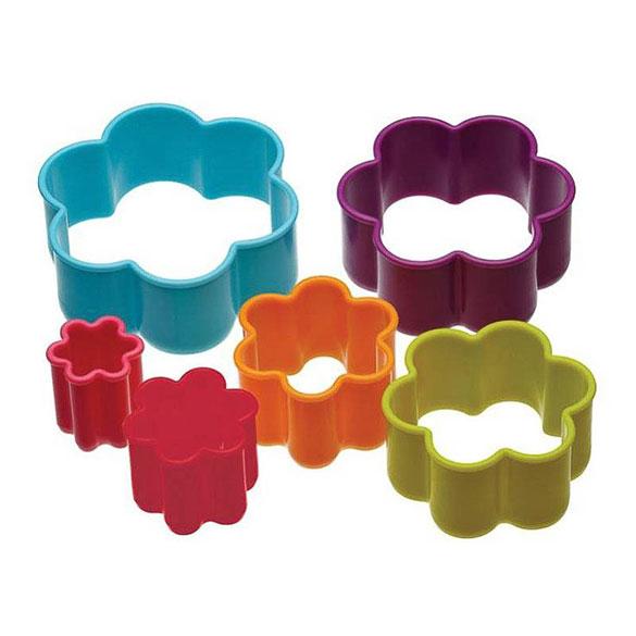 Cortadores de galletas con forma de forma flores, Set 6 u.