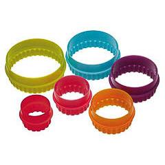 Cortadores de galletas con formas redondas, Set 6 u.