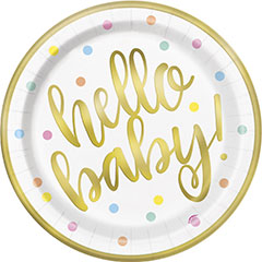 Platos Hello Baby 23,00 cm, Pack 8 u.