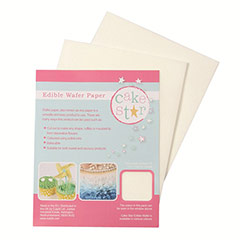 Papel comestible blanco Cake Star, Pack 12u.