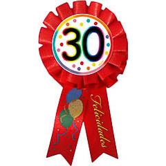 Escarapela 30 cumpleaños