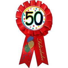 Escarapela 50 cumpleaños