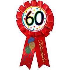 Escarapela 60 cumpleaños