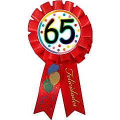 Escarapela 65 cumpleaños