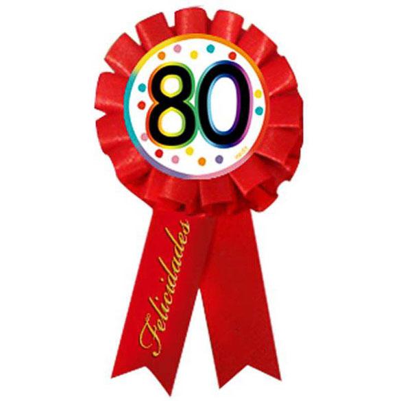 Escarapela 80 cumpleaños