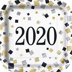Platos Hello 2020 17,50 cm, Pack 8 u.