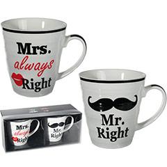 Set tazas Mrs. & Mr.